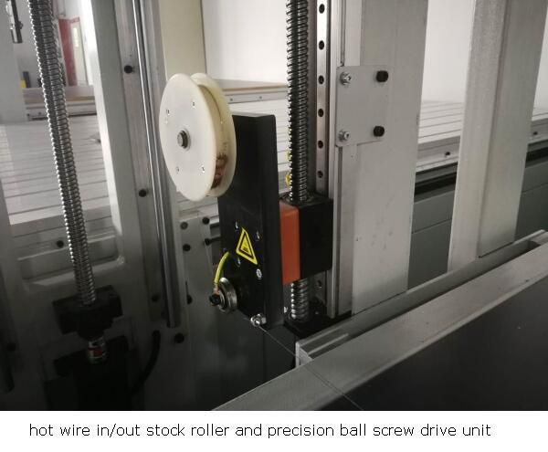 ball screw and hot wire roller of cnc foam cutter