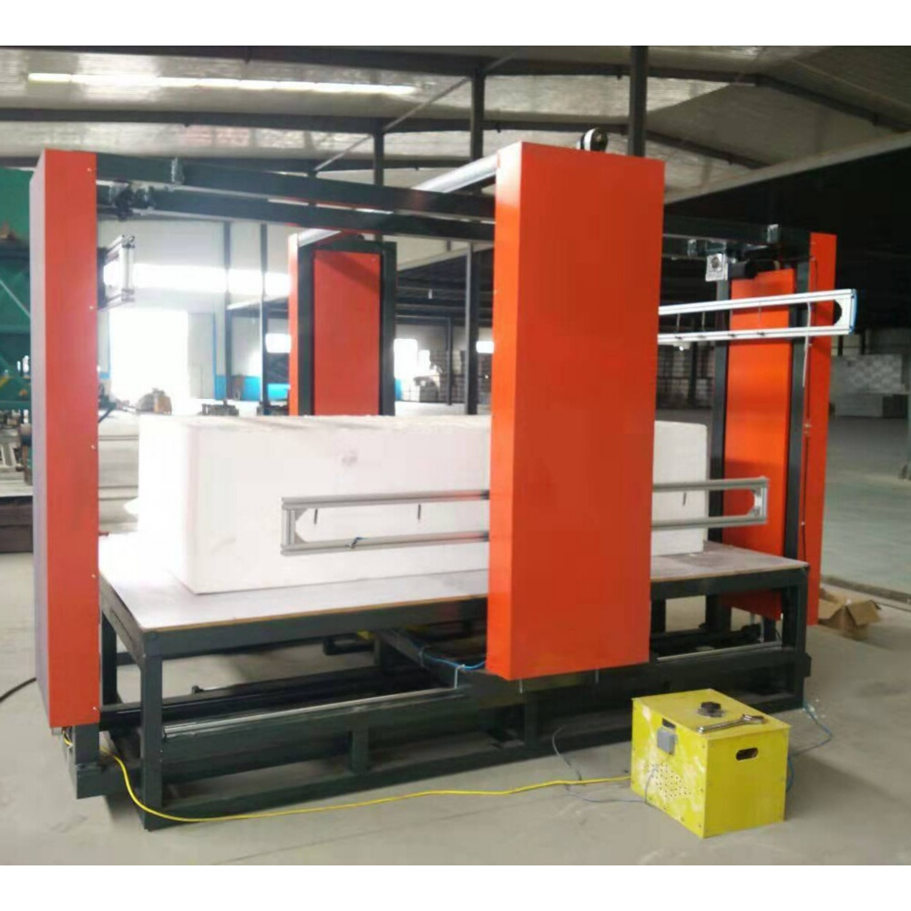 heavy duty CNC hot wire cutter machine with oscillating wires for 2D models